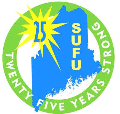 SUFU logo - 25 Years Strong